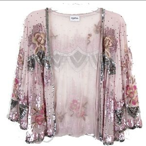 Together Sequin and Embroidered Top